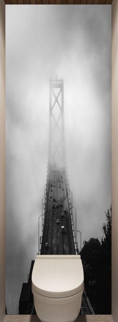 Фотообои в туалет - Дорога сквозь облака