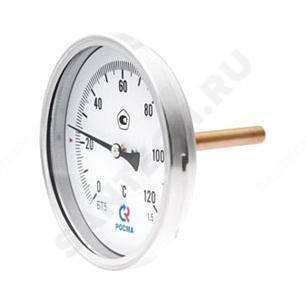 """Термометр биметаллический осевой Дк80 L=46мм G1/2"""" 120С БТ-41.211 Росма"""