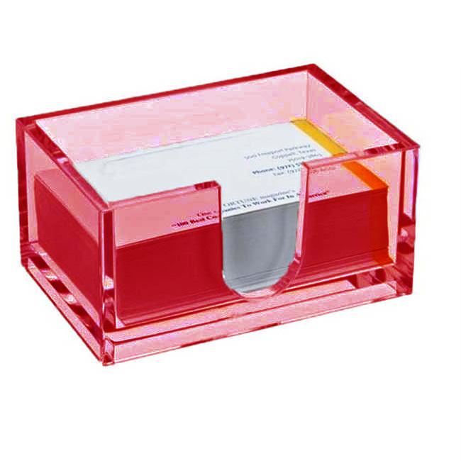 Настольный Акриловый Держатель Визиток Card Case, Цвет Красный