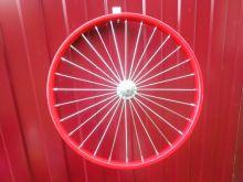 Колесо для детского велосипеда 20 дюймов переднее красное