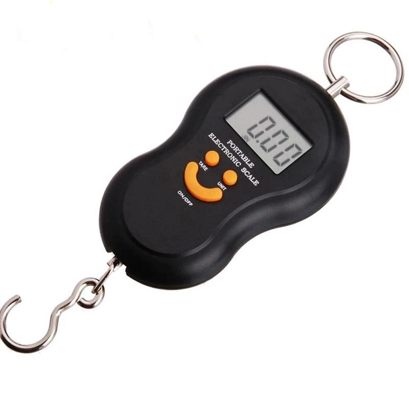 Электронный Безмен С Металлическим Кольцом Portable, 50 Кг, Цвет Черный