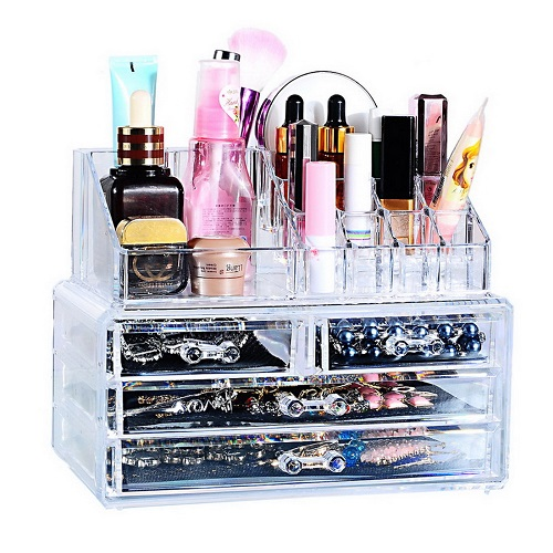 Акриловый Органайзер Для Косметики Cosmetic Storage Box, 4 - 6 Ящичков