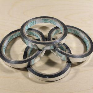 Тейп-лента 12 мм металлизированная, цвет серебро (1 упаковка = 5 шт)
