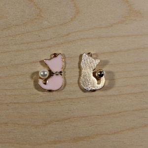 """`Подвеска """"Кошка"""", цвет розовый, размер: 32*25мм, Р-КБС0338-1"""