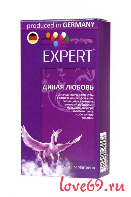 """Презервативы с точками и ребрами Expert """"Дикая любовь"""" - 12 шт."""