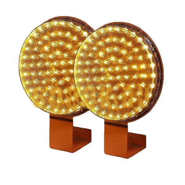 Предупреждающая лампа 200 мм комплект 2 штуки (мигающие оповещатели)