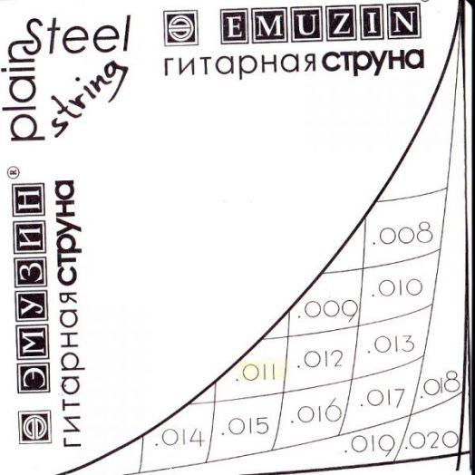 EMUZIN 014с Струна без обмотки диаметром .014 /сталь/