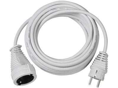 Удлинитель Brennenstuhl 5 метров; кабель H05VV-F 3G1,5; белый, 1 розетка (1168440)