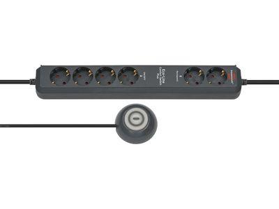 Удлинитель Brennenstuhl Eco-Line Comfort Switch Plus с выносной кнопкой EL CSP 24; розетки 4 отключаемые + 2 постоянные; 1,5 м. кабель H05VV-F 3G1.5; черный (1159560516)