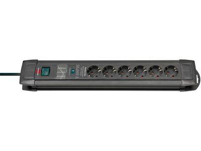 Сетевой фильтр Brennenstuhl Premium-Line 30 000 А; 6 розеток; 1,8 метра; черный; кабель H05VV-F 3G1,5 (1150480400)
