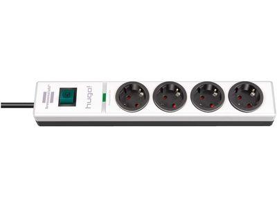 Сетевой фильтр Brennenstuhl hugo! 19500 А; 4 розетки; 2 метра; белый-черный; кабель H05VV-F 3G1,5 (1150610304)