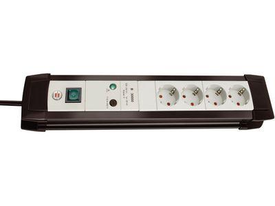 Сетевой фильтр Brennenstuhl Premium-Line 30000 А, 4 розетки, 1,8 метра, черный/светло-серый, кабель H05VV-F 3G1,5 (1155050374)