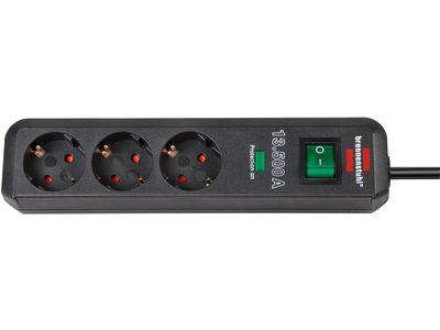 Сетевой фильтр Brennenstuhl Eco-Line 13500 А, 3 розетки, 1,5 метра, антрацит, кабель H05VV-F 3G1,5 (1158810315)