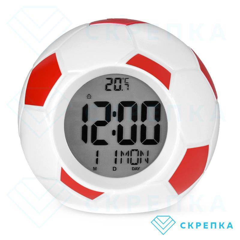 Настольные говорящие часы Футбольный мяч