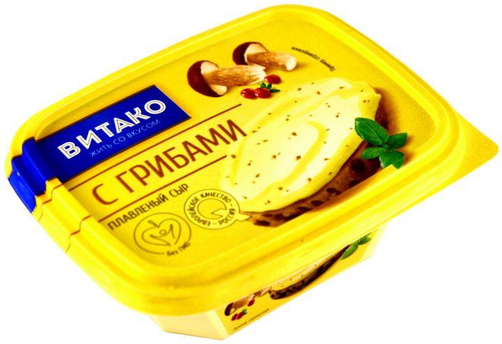 Сыр С грибами плавл.ванночка 60%  200г Витако