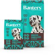 Banters Sensitive Корм для собак с чувствительным пищеварением лосось с картофелем 15 кг