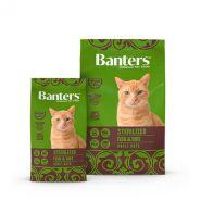 Banters Sterilized Корм для взрослых стерилизованных кошек и кастрированных котов 8 кг