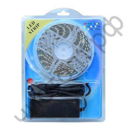 Набор LED лента Огонёк LD-54A (теплый-белый, 5м, 12В) комплект ,нужна только розетка