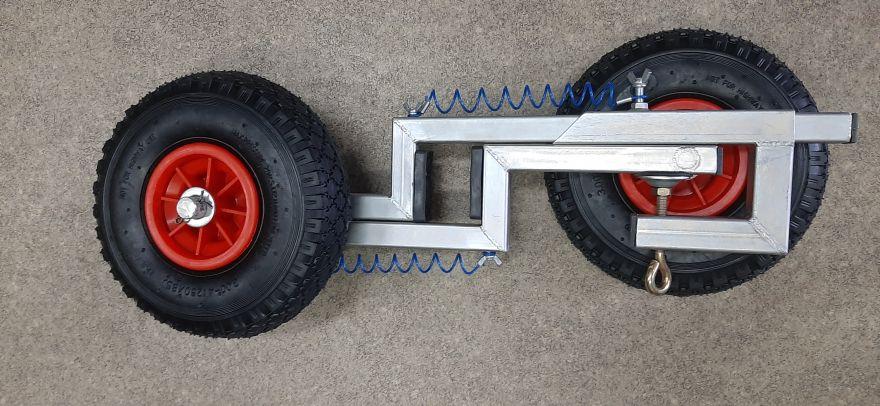 Шасси (колеса) транцевые на струбцине (НЕРЖАВЕЙКА)
