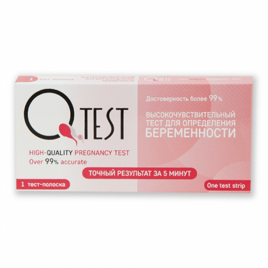 Тест для определения беременности Qtest №1
