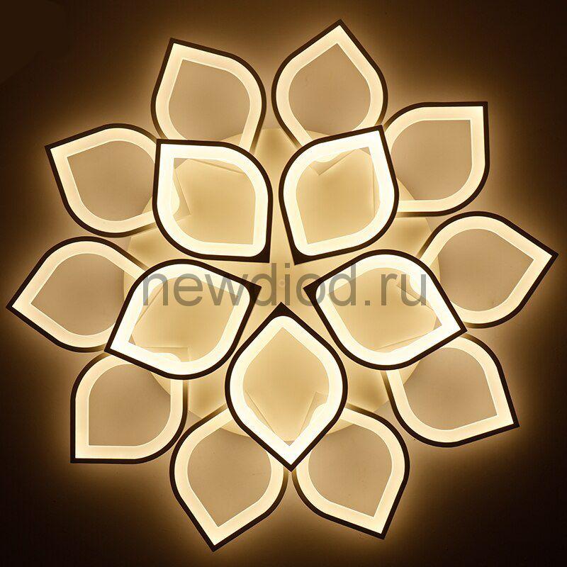 Управляемый светодиодный светильник Astra 8042 12 лепестков 240Вт-14400Лм 800мм 6/3/4000K Oreol