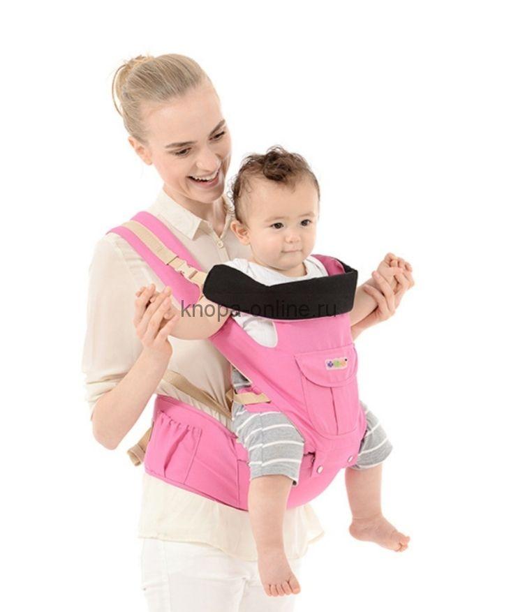 Кенгуру-рюкзак Hipseat с сидением - розовый
