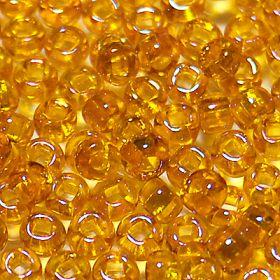 Бисер чешский 81060 оранжевый прозрачный радужный Preciosa 1 сорт