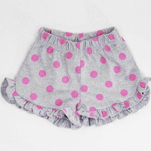Шорты для девочек 2-5 лет Bonito серые в горошек
