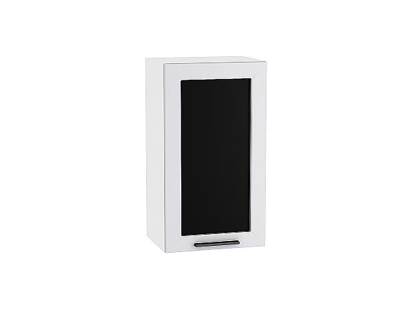 Шкаф верхний Глетчер В409 со стеклом (Гейнсборо Силк)