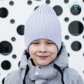 HOH ШД19-17211190 Вязаная шапка с подворотом, серый