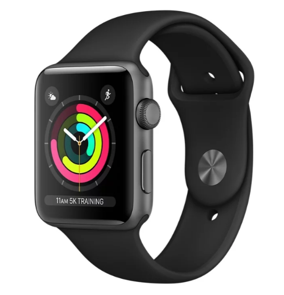 Часы Apple Watch Series 3 42mm Aluminum Case with Sport Band черные