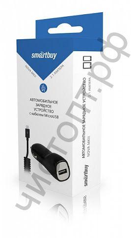 АЗУ Smartbuy NOVA MKII,  вых.ток 2.1А, 1USB + кабель MicroUSB, черное (SBP-1503MC)