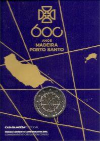 600 лет со дня открытия архипелага Мадейра 2 евро Португалия 2019 BU Блистер