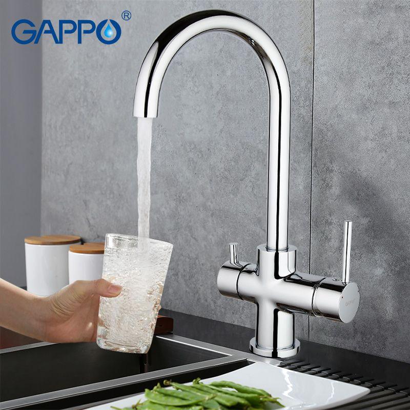 Gappo G1052-8 Смеситель для кухни с выходом под питьевой фильтр