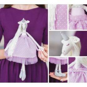 Мягкая игрушка «Мягкая единорожка Шейлин», набор для шитья, 18 × 22.5 × 2 см