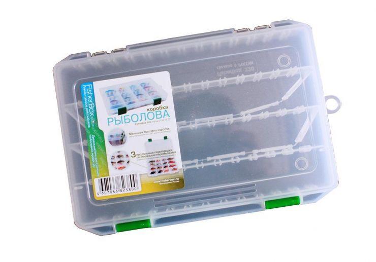 Коробка ФФК-220slim рыбака пластиковая 220х160х30