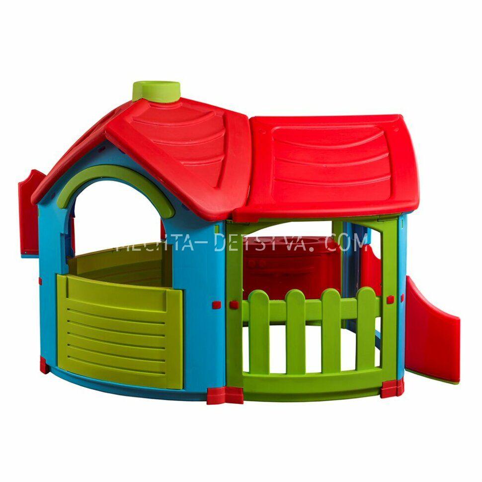 Детский игровой домик Вилла с пристройкой 662