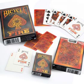 Дизайнерские карты Bicycle Fire Playing cards