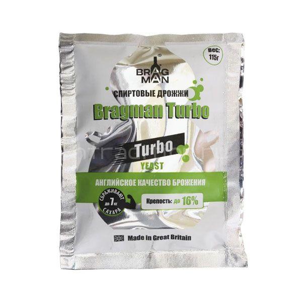 Турбодрожжи Bragman Turbo, для сахарных браг, 115 гр. (Англия)