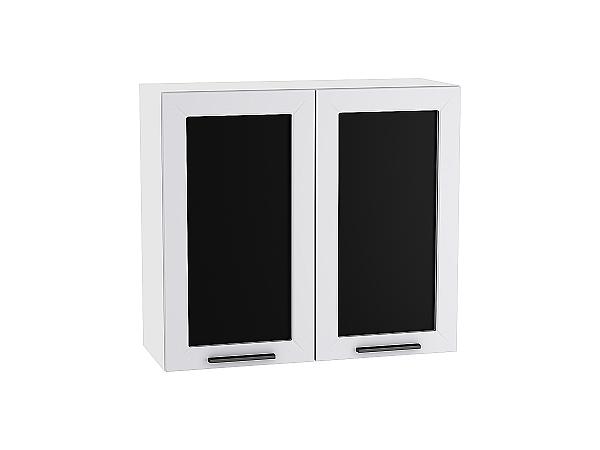 Шкаф верхний Глетчер В800 со стеклом (Гейнсборо Силк)
