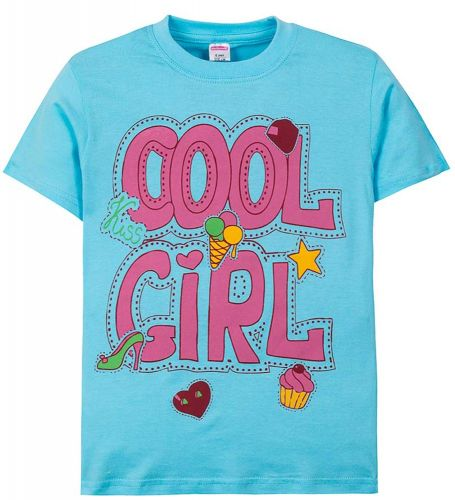 """Футболка для девочек 6-9 лет Sladikmladik """"Cool girl"""""""