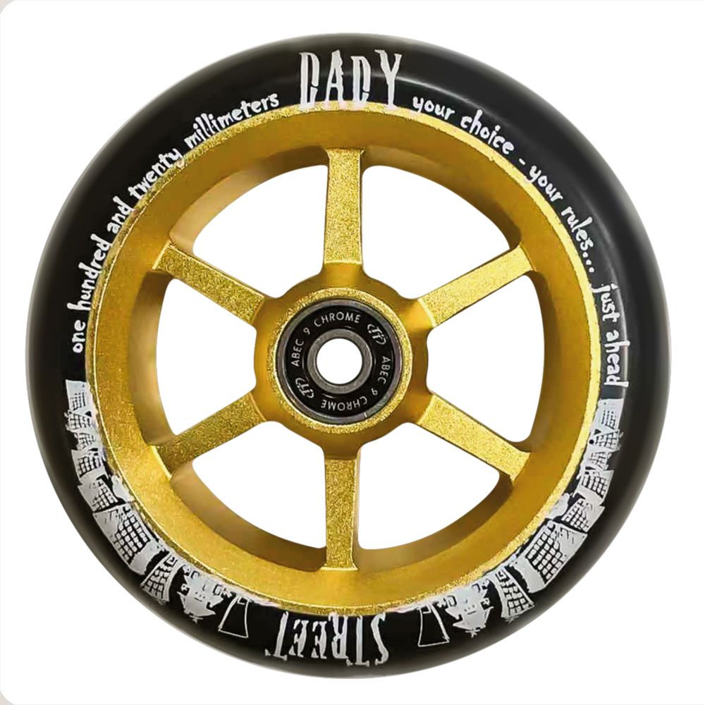 Колесо для самоката X-Treme 120мм 6ST (для самоката Street Dady) 120*30мм в сборе