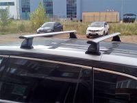 Багажник на крышу Toyota Highlander 2014-..., Lux, крыловидные дуги