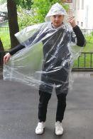 Дождевик Пончо прозрачный квадратный