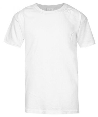 Однотонная футболка для детей 6-9 лет BABY STYLE белая