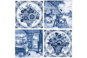Фландрия голубой Декор 14-03-61-136-4 20х20