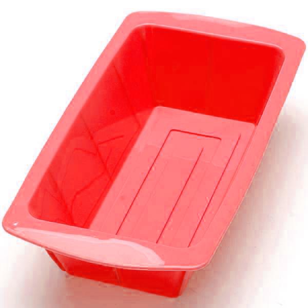 Силиконовая Форма Для Выпечки Прямоугольная, Цвет Красный