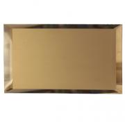 Прямоугольная зеркальная бронзовая плитка с фацетом 10мм ПЗБ1-01 24х12