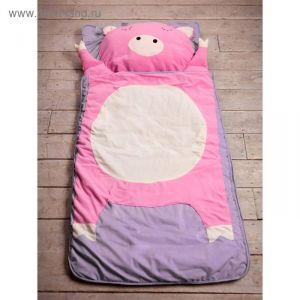 """Спальный мешок """"Свинка"""" на молнии, размер 60х120 см (S), флис/синтепух/хлопок   2677645"""