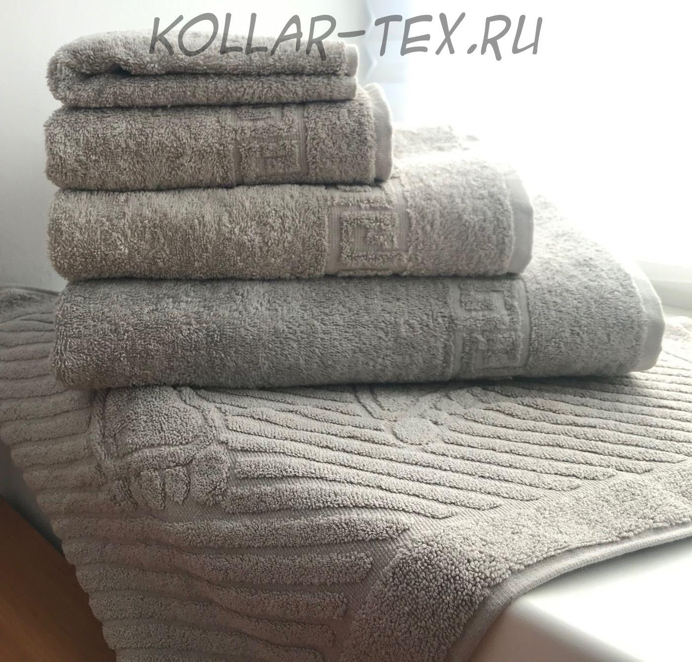 Комплект махровых полотенец серая дымка, Туркменистан